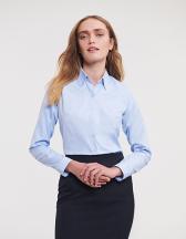 Ladies´ Long Sleeve Tailored Herringbone Shirt