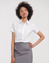 Ladies´ Short Sleeve Tailored Herringbone Shirt