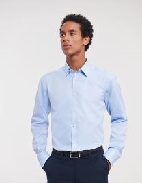 Men´s Long Sleeve Tailored Herringbone Shirt