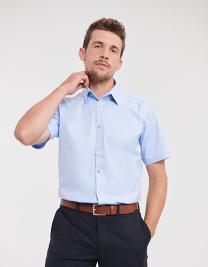 Men´s Short Sleeve Tailored Herringbone Shirt