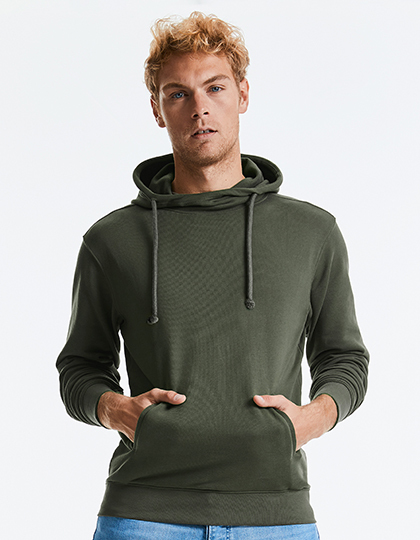 Pure Organic High Collar Hooded Sweat